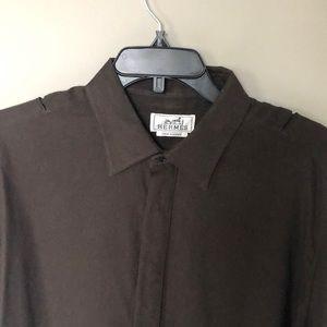 Hermes Vintage Cotton/Cashmere Shirt